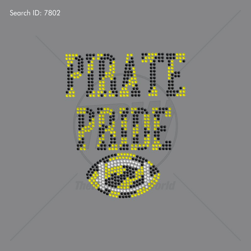Pirate Pride Rhinestone Design - Pre-Cut Template