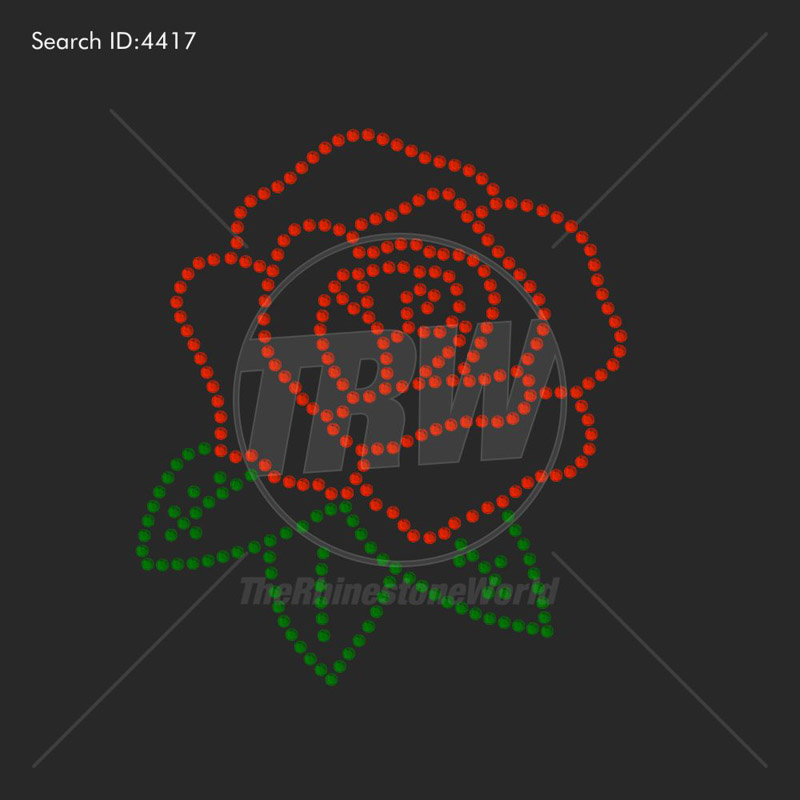 TRW Rose 2 Rhinestone Design - Download