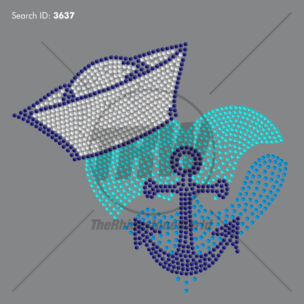 Sailor Heart Rhinestone Design - Pre-Cut Template