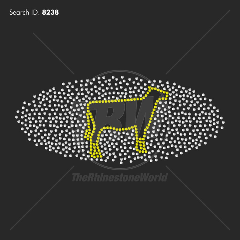 Scatter Cow 1 Rhinestone Design - Download