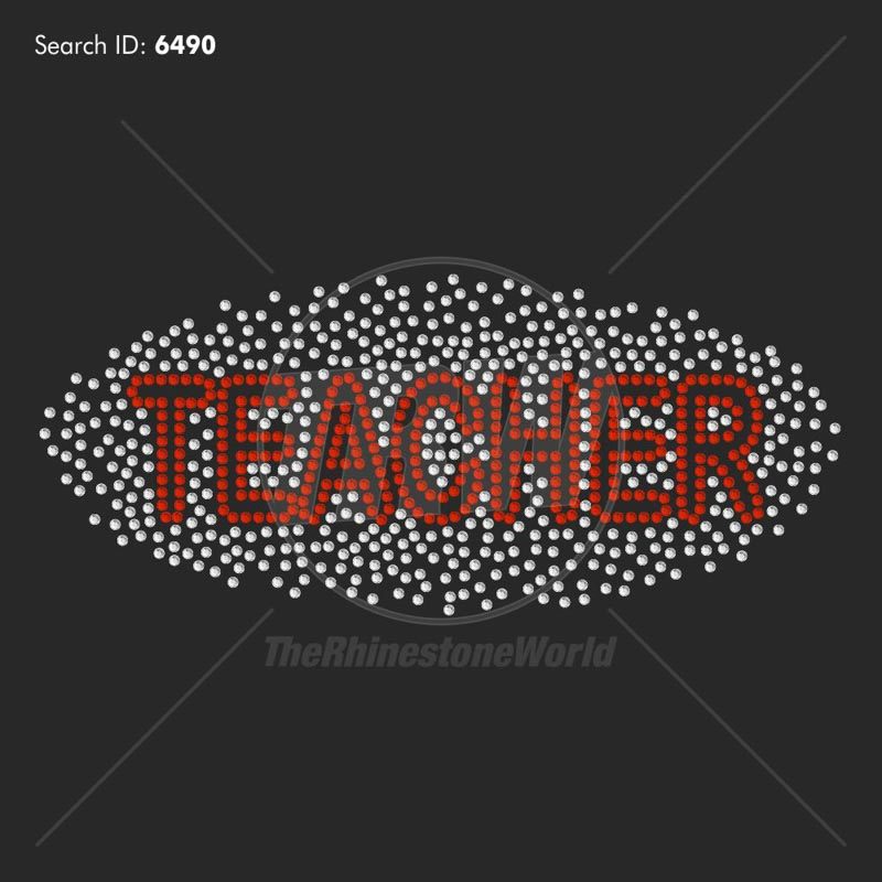 Scatter Teacher Rhinestone Design - Download