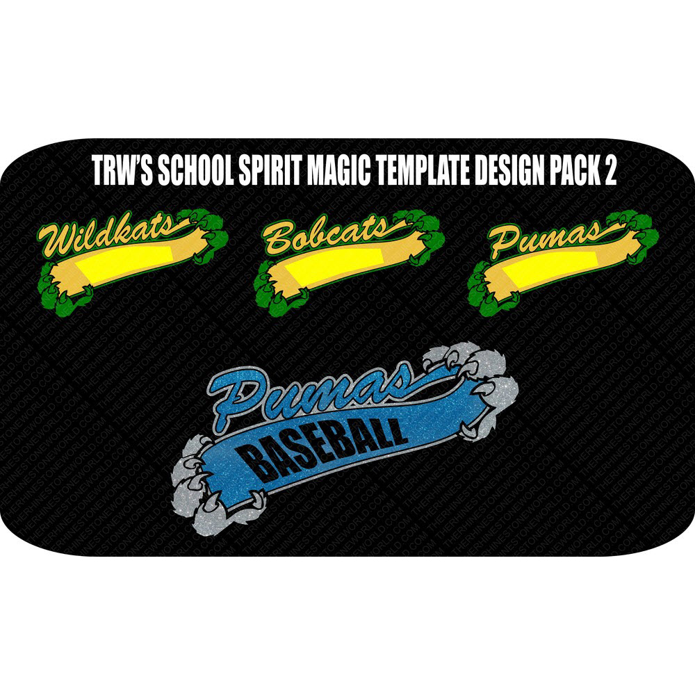 School Spirit Magic Template Vector Design Pack 2  - Download