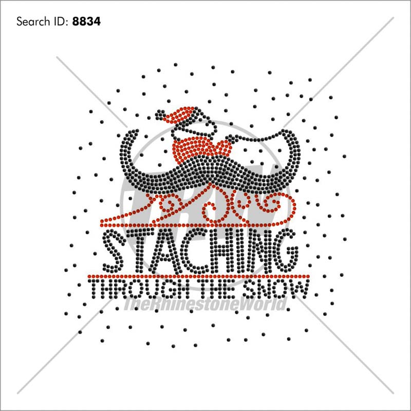 Staching Through The Snow Rhinestone Design - Download