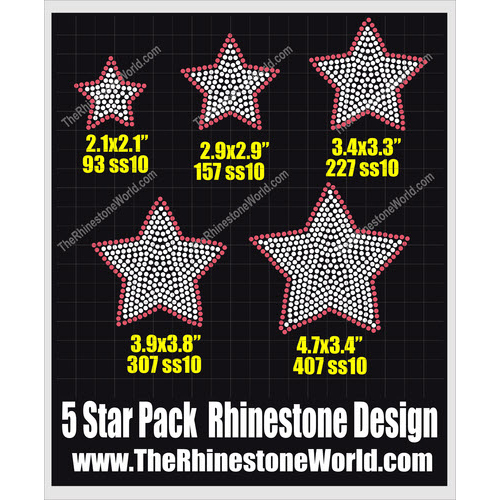2 Color Mini Star Pack Design  - Download