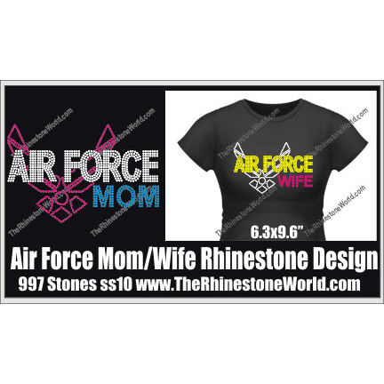 AIR FORCE Mom Wife Design  - Download