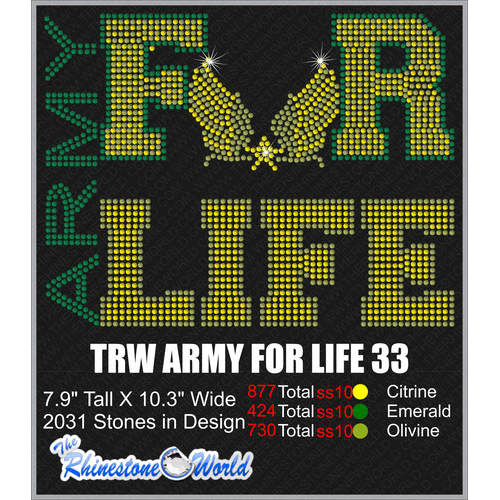 ARMY FOR LIFE 33 Design  - Download