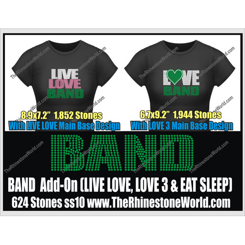 BAND LIVE LOVE, Love 3 & Eat Sleep Add-On Desig - Download