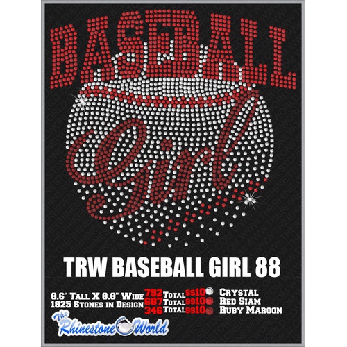 BASEBALL GIRL 88 Design  - Download