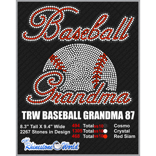 BASEBALL GRANDMA 87 Design  - Download