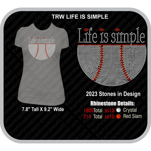 BASEBALL LIFE IS SIMPLE Design  - Download