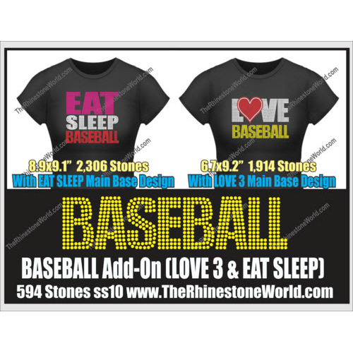 BASEBALL LOVE 3 & Eat Sleep Add-On Design  - Download