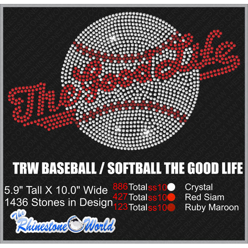 BASEBALL/SOFTBALL THE GOOD LIFE Design  - Download