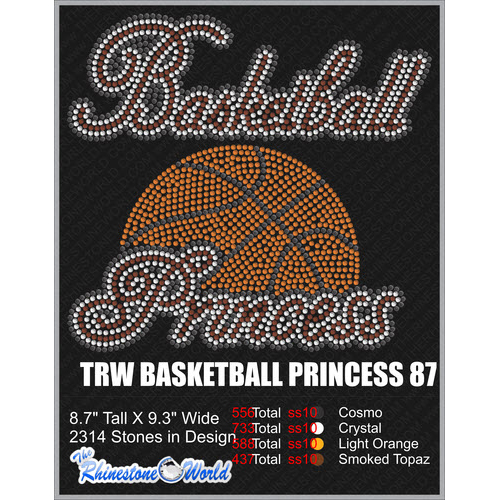 Basketball PRINCESS 87 Design  - Download