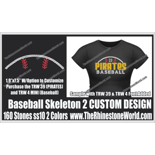 Baseball Skeleton 2 Design  - Download