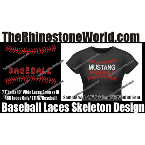 Baseball/Softball Laces Skeleton Main Design  - Download