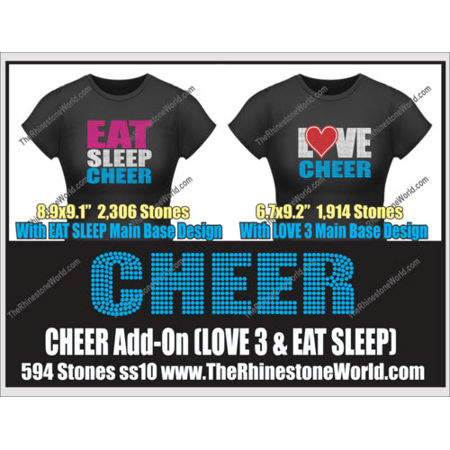 CHEER LOVE 3 & Eat Sleep Add-On Design  - Download