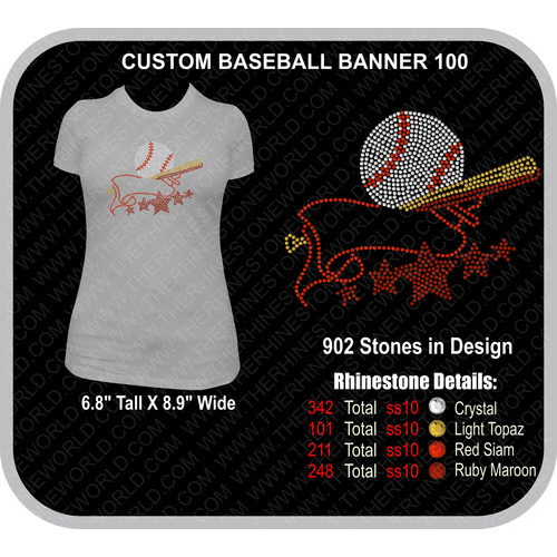 CUSTOM BASEBALL BANNER 100 Design  - Download