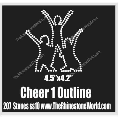 Cheer 1 Outline Design  - Download