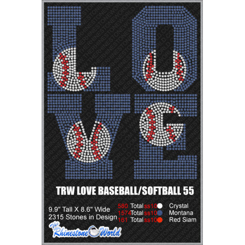 LOVE BASEBALL/SOFTBALL 55 Design  - Download