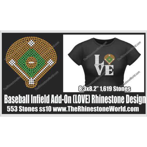 LOVE Baseball Diamond Add-On Design  - Download