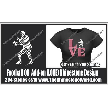 LOVE Football QB Add-On Design - Download
