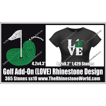 LOVE Golf Rhinestone Design - Download