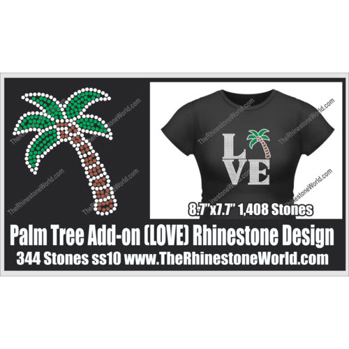LOVE Palm Tree Add-On Design  - Download