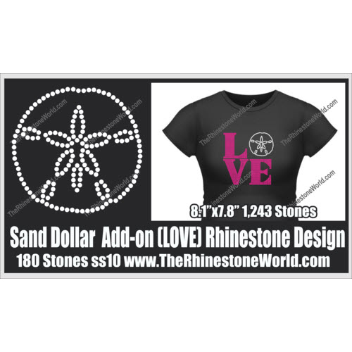 LOVE Sand Dollar Add-On Design  - Download
