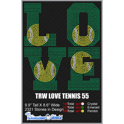 LOVE TENNIS 55 Design  - Download