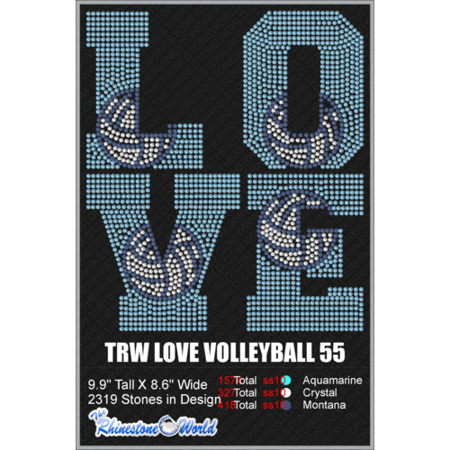 LOVE VOLLEYBALL 55 Design  - Download