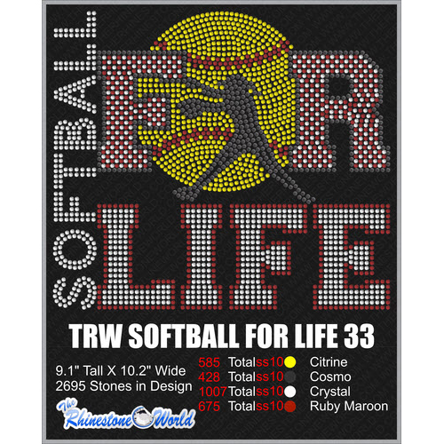 SOFTBALL FOR LIFE 33 Design  - Download