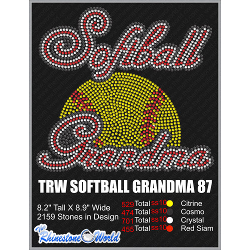 SOFTBALL GRANDMA 87 Design  - Download