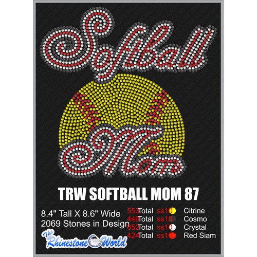SOFTBALL MOM 87 Design  - Download