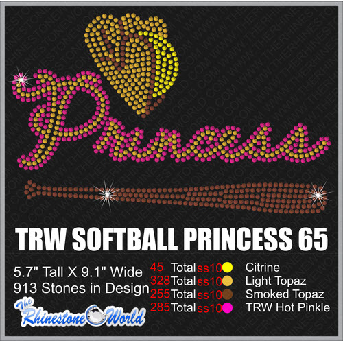 SOFTBALL PRINCESS 65 Design  - Download