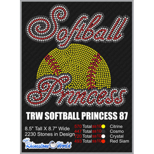 SOFTBALL PRINCESS 87 Design  - Download