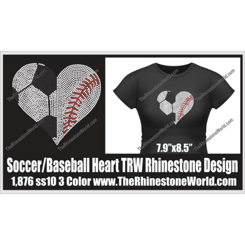 Soccer/Baseball Heart Design  - Download