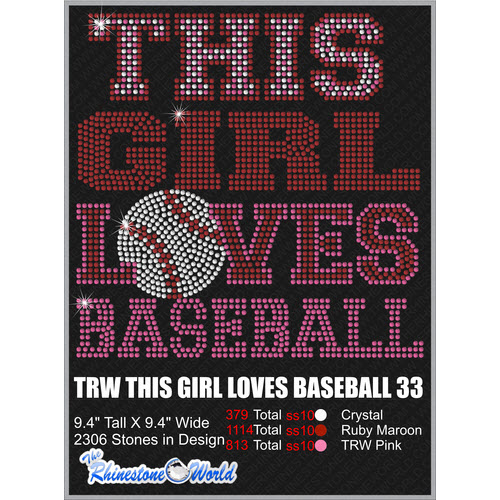 THIS GIRL LOVES BASEBALL 33 Design  - Download