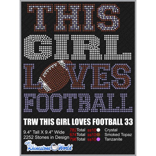 THIS GIRL LOVES FOOTBALL 33 Design  - Download