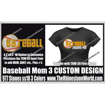TRW 203 Baseball Mom 3 Design  - Download