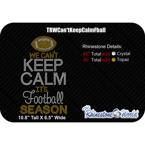 TRW Can't Keep Calm Football Design   - Download