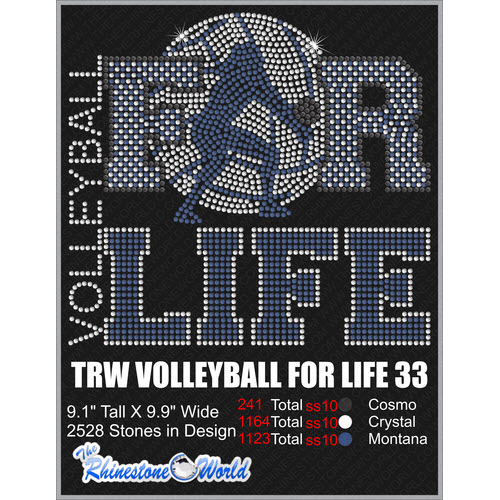 VOLLEYBALL FOR LIFE 33 Design  - Download