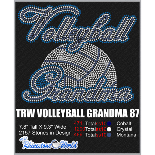 VOLLEYBALL GRANDMA 87 Design  - Download
