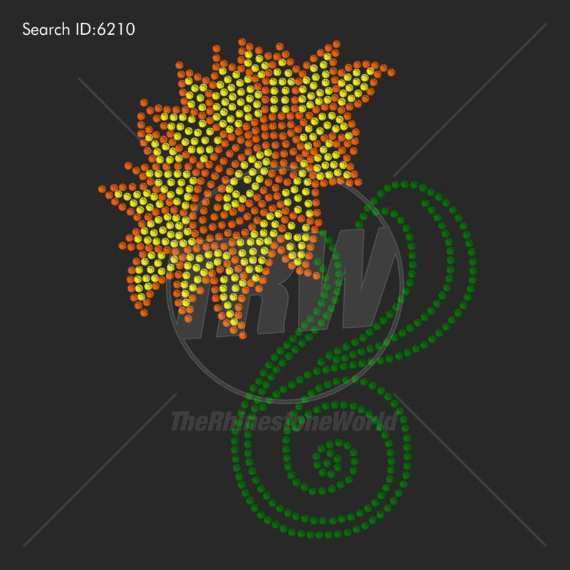 Sunflower 1 Rhinestone Design - Download