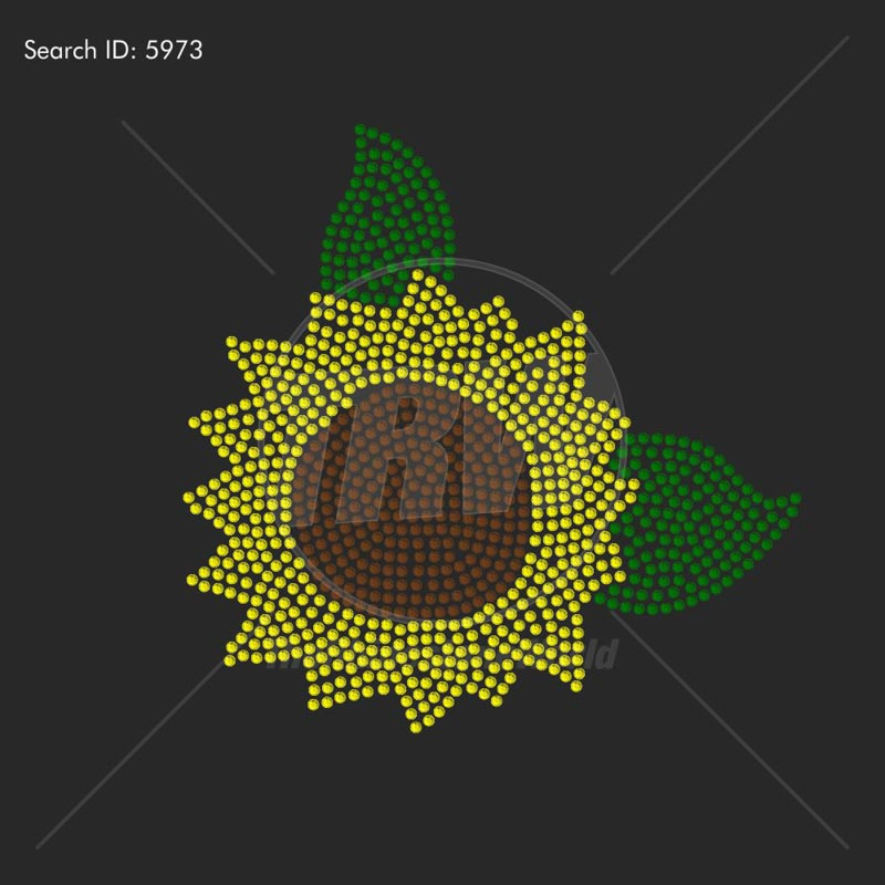 Sunflower 2 Rhinestone Design - Download