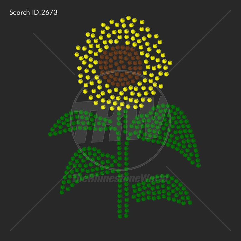 Sunflower Rhinestone Design - Download