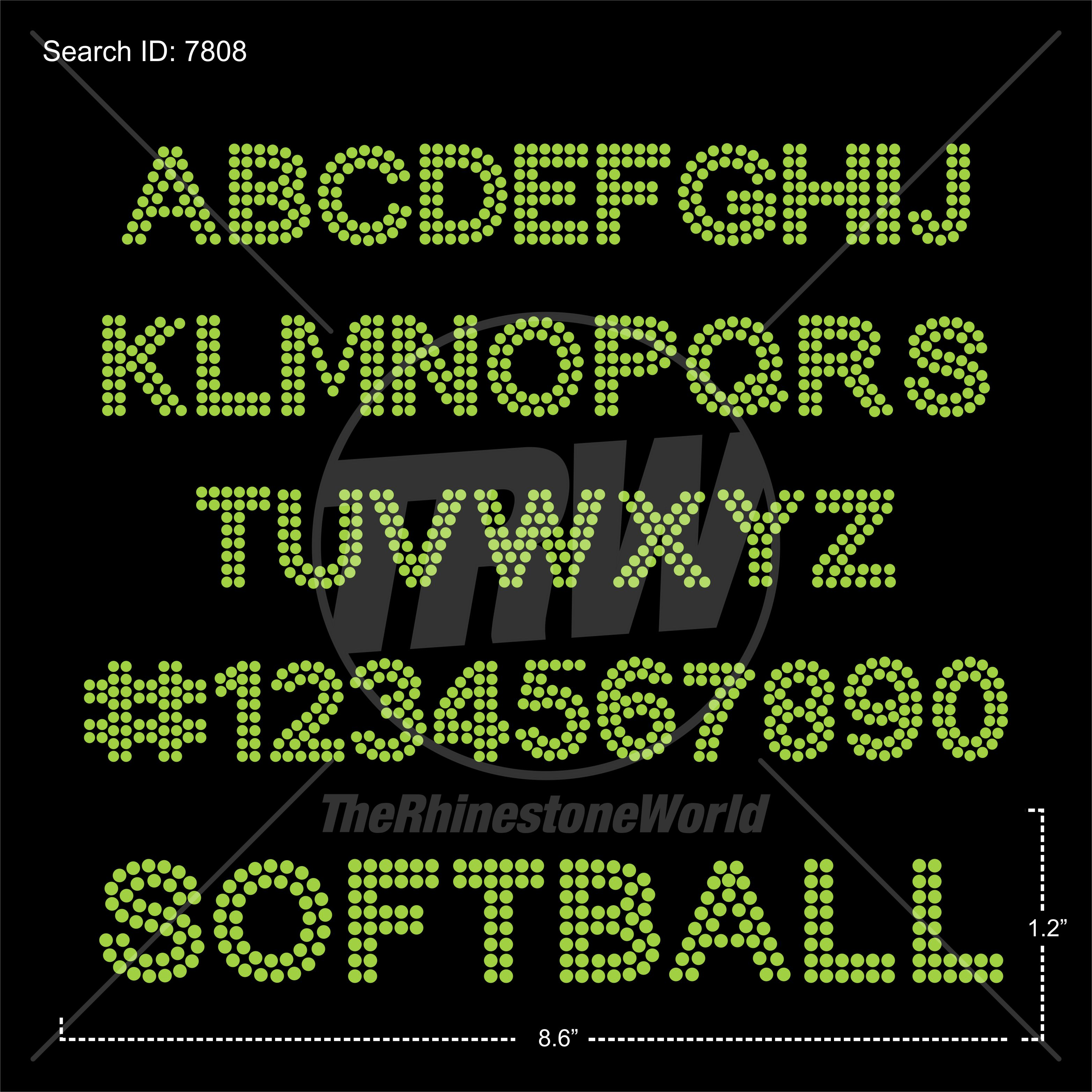 TRW 135 Basic Tote Bag Strap Font and Number Set - Download