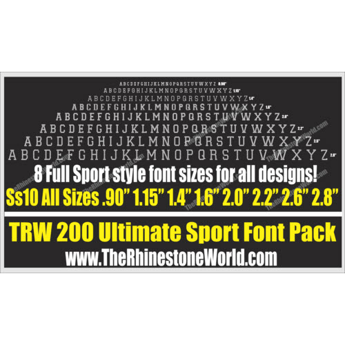 TRW 200 Ultimate Sport Font Pack - Download