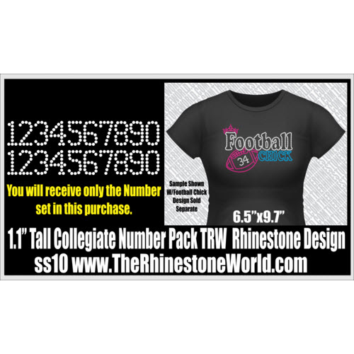TRW 205 Numbers SF Rhinestone Design - Download