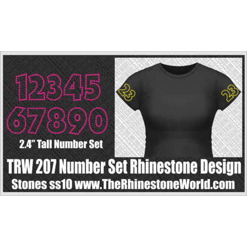 TRW 207 Numbers SF Rhinestone Design - Download