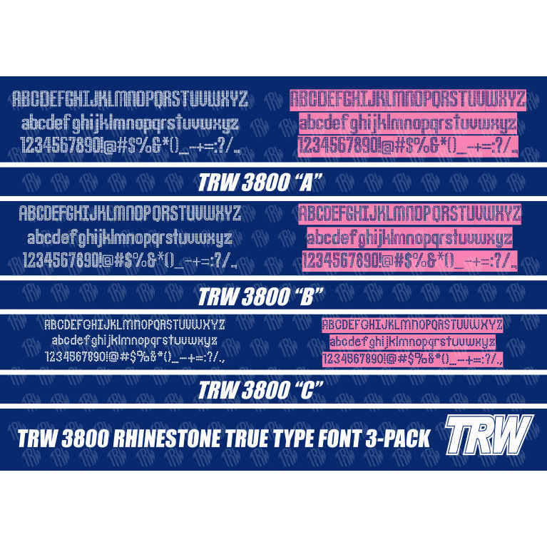 TRW 3800 Rhinestone TTF 3 Pack - Download